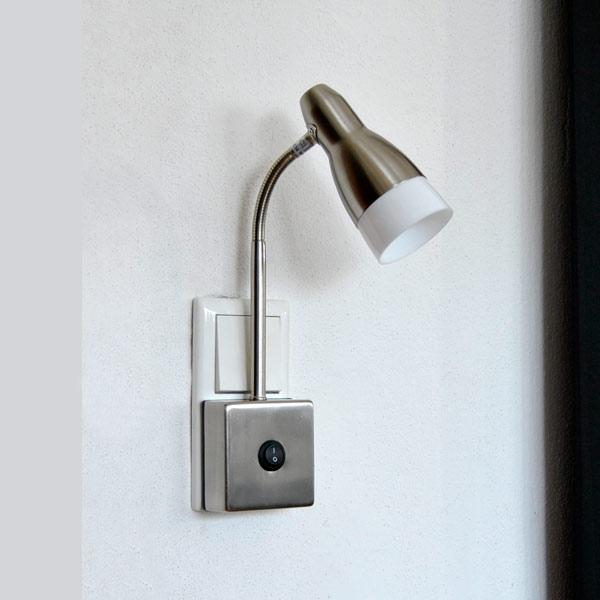 steckdosenlampe steckdosenleuchte schalter steckerlampe ebay. Black Bedroom Furniture Sets. Home Design Ideas