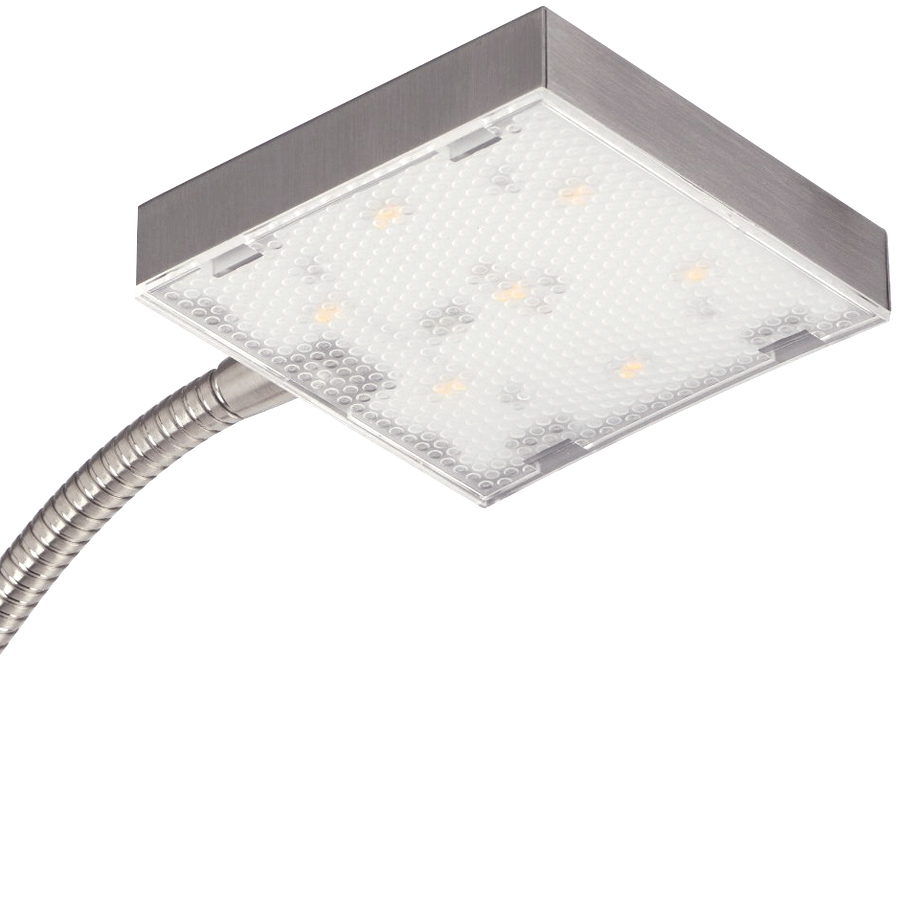 Led deckenfluter mit led leseleuchte 1m80cm led panel - Stehlampe mit kristallen ...