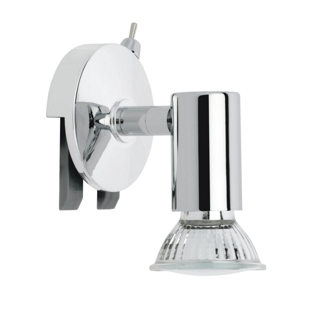 Lampada da parete specchio lampada male bagno lampada luce ip20 splash cromo ebay - Lampada sopra specchio bagno ...