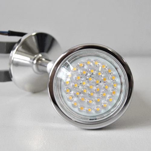 Led luce bagno lampada specchio da parete cromata design male interruttore nuovo ebay - Lampada sopra specchio bagno ...