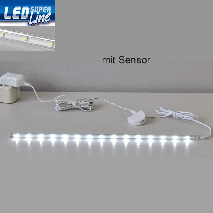 led lichtleiste sensor k che schrank innen leuchte unterbauleuchte leiste lampe ebay. Black Bedroom Furniture Sets. Home Design Ideas