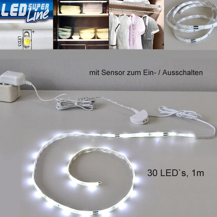 led lichtleiste mit sensor schrankbeleuchtung innen 2347 030s briloner. Black Bedroom Furniture Sets. Home Design Ideas