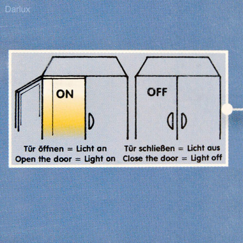 led lichtleiste mit sensor schrankbeleuchtung innen 2347 030s briloner. Black Bedroom Furniture Sets. Home Design Ideas