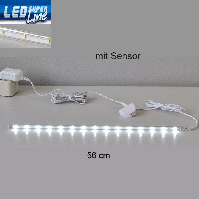 led lichtleiste sensor 0 56m k che schrank innen leuchte unterbauleuchte leiste ebay. Black Bedroom Furniture Sets. Home Design Ideas
