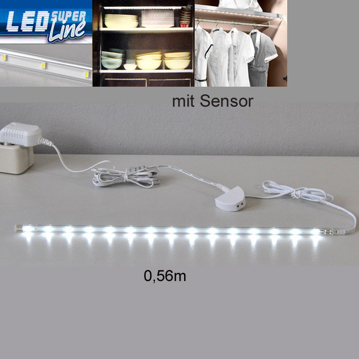 led lichtleiste sensor schrank k che beleuchtung 2374 210s briloner leiste strip ebay. Black Bedroom Furniture Sets. Home Design Ideas