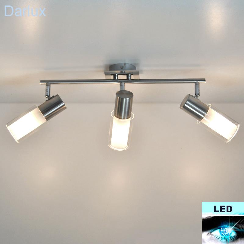 led deckenleuchte energiespar deckenlampe 435mm edelstahl wei spot led neu. Black Bedroom Furniture Sets. Home Design Ideas