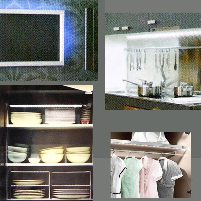 led lichtleiste 2 5w unterbauleuchte 40cm profil briloner leuchten strips neu ebay. Black Bedroom Furniture Sets. Home Design Ideas