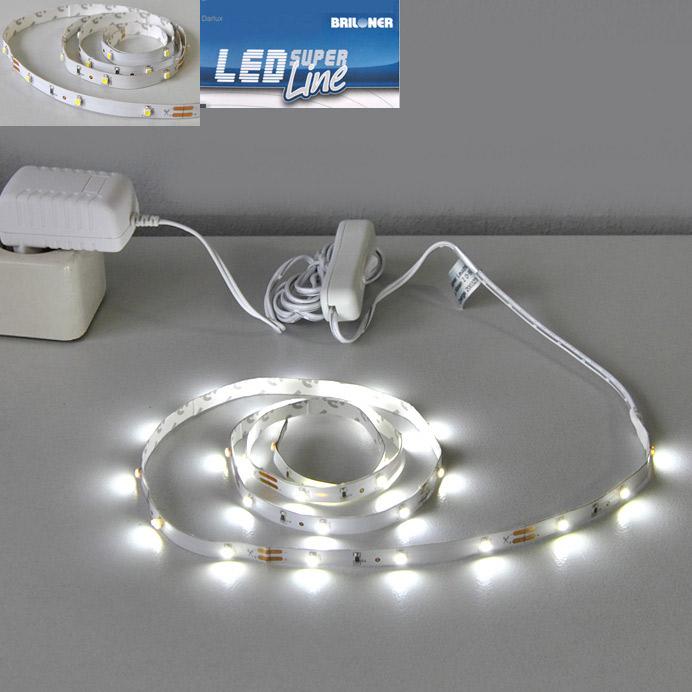 30 led lichtband strips leuchtband 1m streifen briloner band leiste lichtleiste. Black Bedroom Furniture Sets. Home Design Ideas