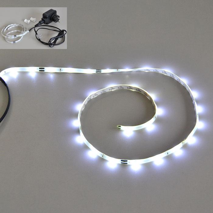 led lichtband 1m innen und au enbereich ip44. Black Bedroom Furniture Sets. Home Design Ideas
