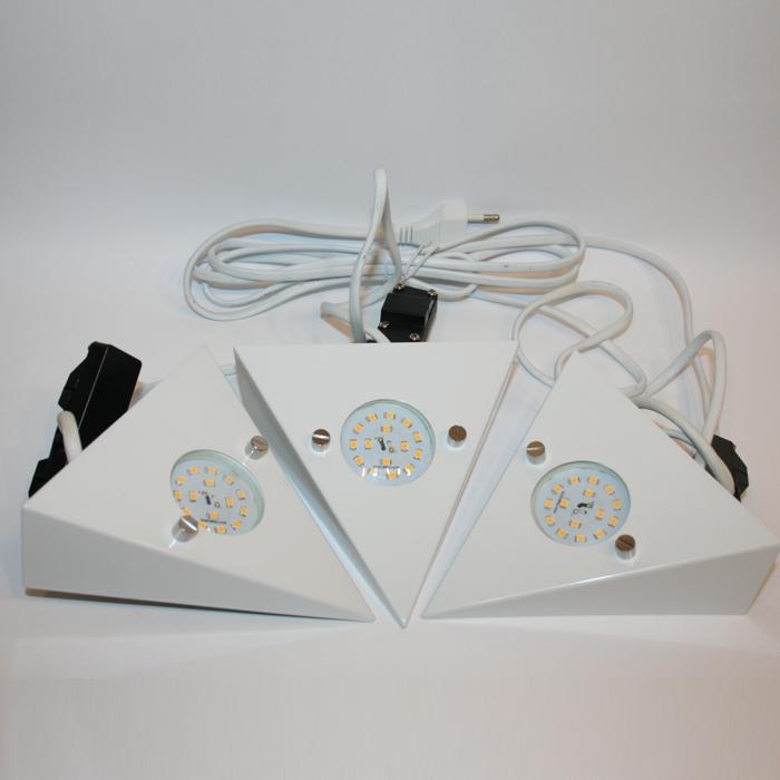 led unterbauleuchten 3er set wei unterbaulampe k chenleuchte modern ebay. Black Bedroom Furniture Sets. Home Design Ideas