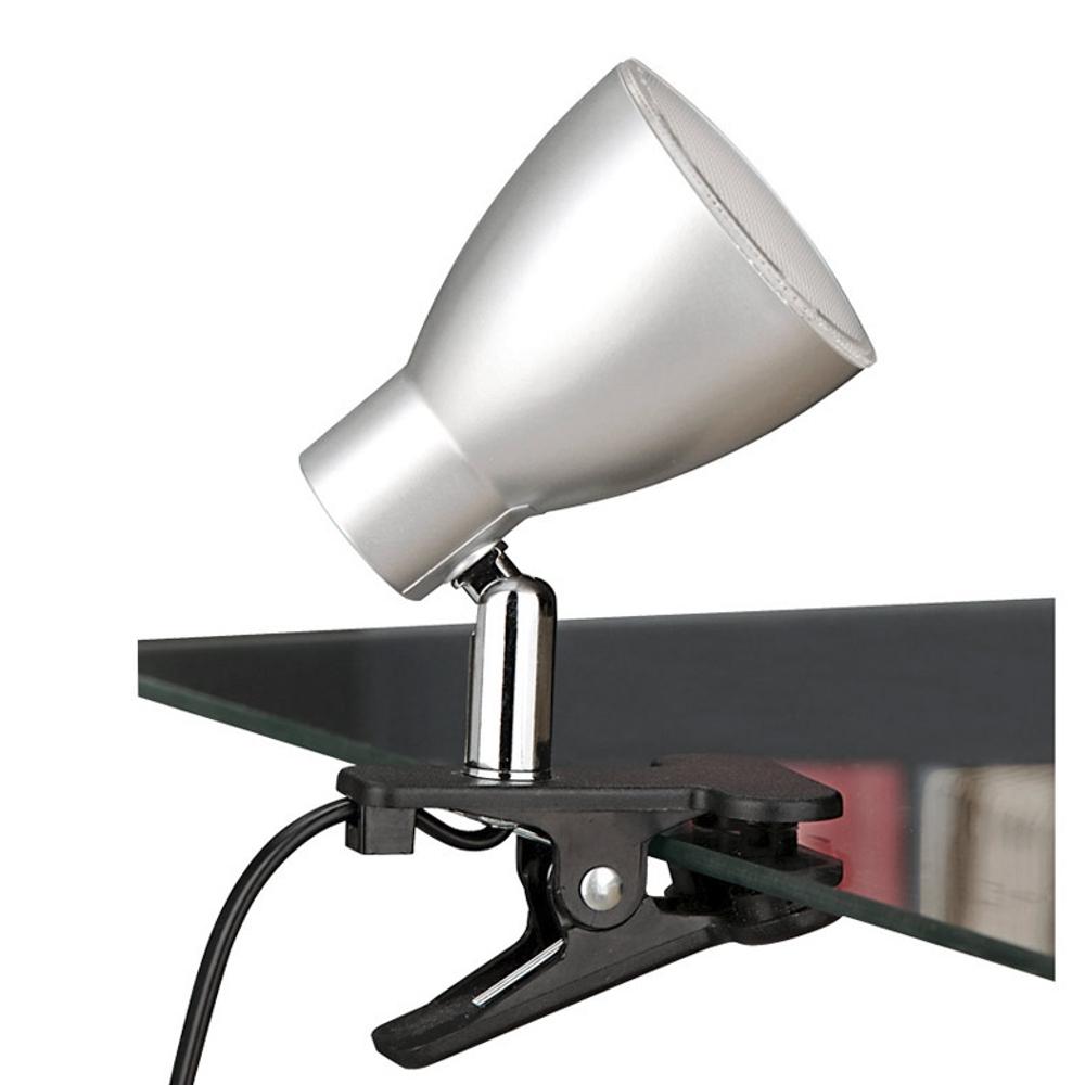 lumi re de serrage led lampe pince briloner super bureau interrupteur argent ebay. Black Bedroom Furniture Sets. Home Design Ideas