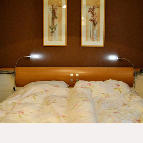 led 2 bettleuchte bettlampe leselampe nachttischlampe ebay. Black Bedroom Furniture Sets. Home Design Ideas