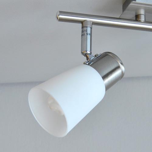 design deckenlampe edelstahl glas 27 5cm deckenleuchte wandleuchte 9w sparlampen ebay. Black Bedroom Furniture Sets. Home Design Ideas