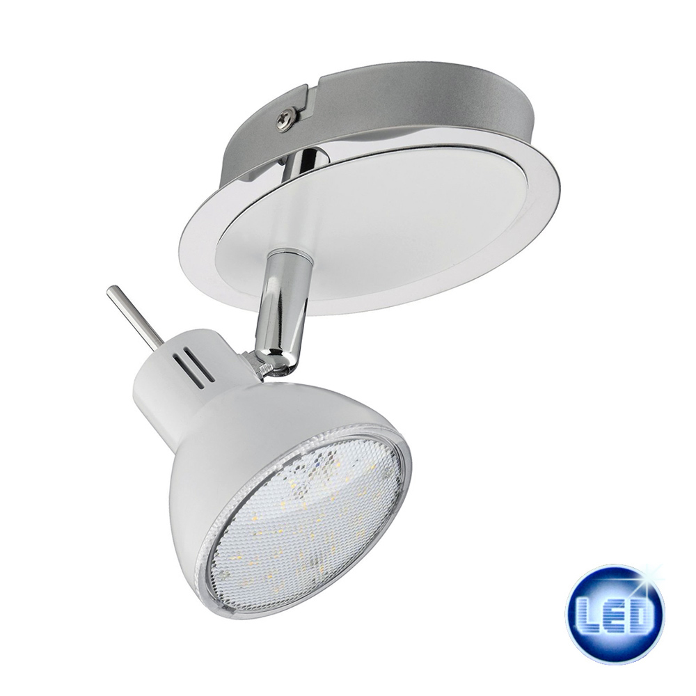 led spot 4w briloner leuchten strahler dreh und schwenkbar wei chrom 54297459. Black Bedroom Furniture Sets. Home Design Ideas