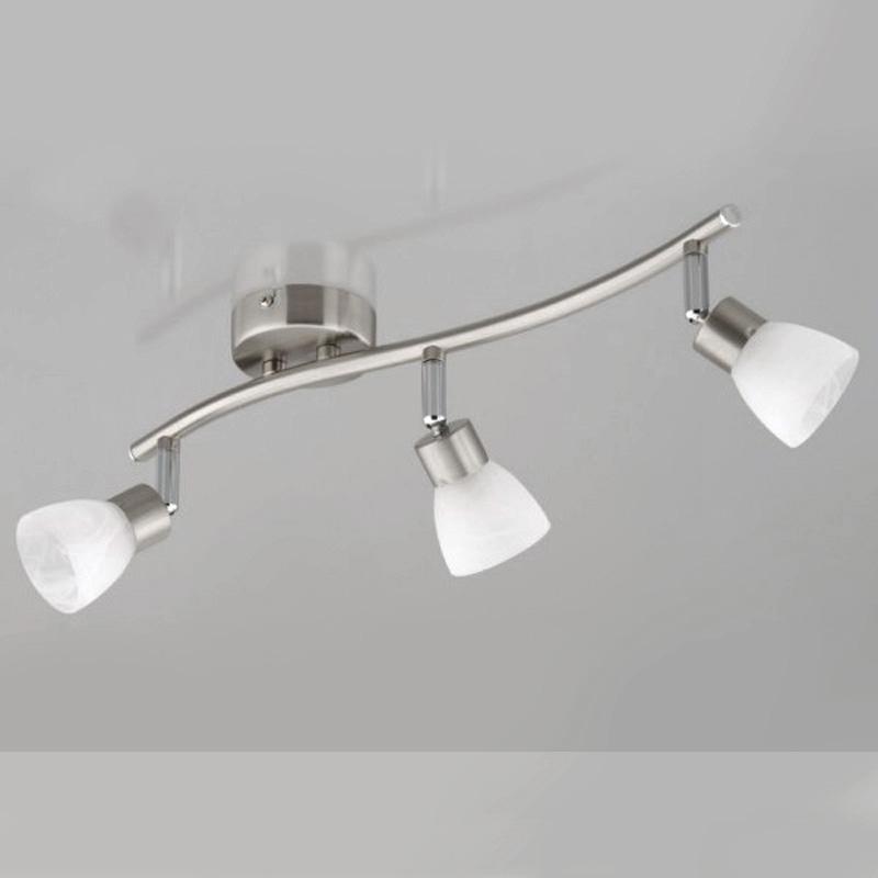 deckenleuchte design deckenlampe spots edelstahl glas wei led m glich 42cm ebay. Black Bedroom Furniture Sets. Home Design Ideas