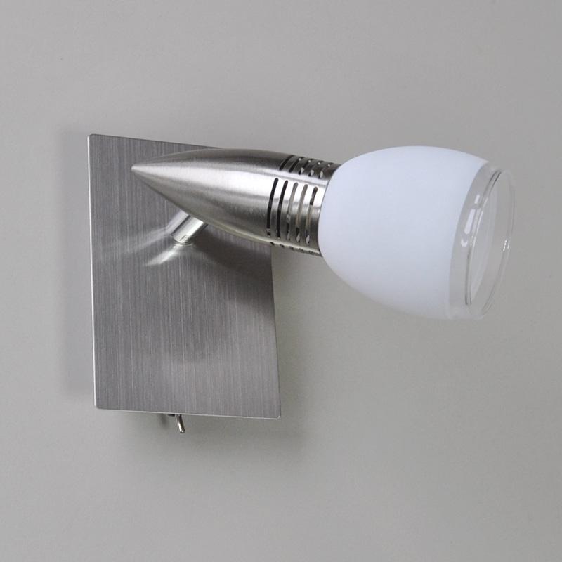 wandleuchte led wandlampe power spot deckenlampe energiespar leselampe schalter ebay. Black Bedroom Furniture Sets. Home Design Ideas
