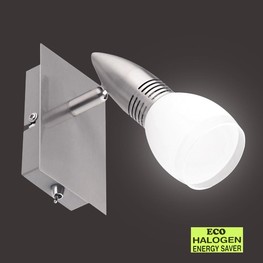 eco wandleuchte spot wandlampe strahler deckenlampe eco halogen mit schalter neu ebay. Black Bedroom Furniture Sets. Home Design Ideas