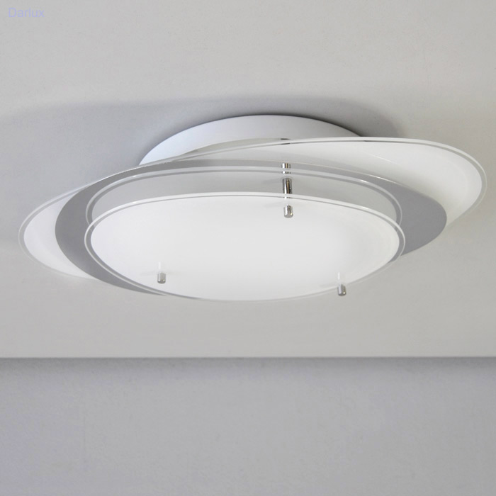 deckenleuchte 42cm chrom glas 3029 026 briloner living deckenlampe wandlampe ebay. Black Bedroom Furniture Sets. Home Design Ideas