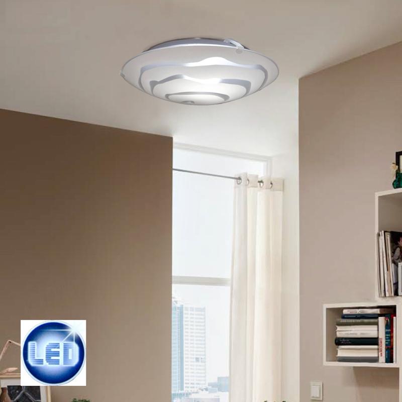 led deckenleuchte 25cm ufo glas wei rund design deckenlampe 7w led sparlampe ebay. Black Bedroom Furniture Sets. Home Design Ideas