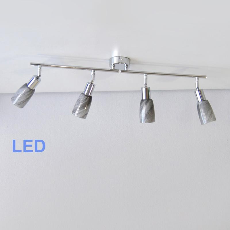 deckenleuchten led design glas stein optik lichtschiene spot leiste deckenlampe ebay. Black Bedroom Furniture Sets. Home Design Ideas