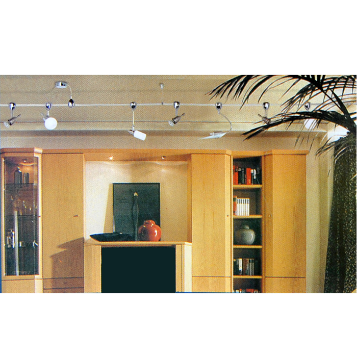 systemleuchte f r seilsystem spot briloner silber rot seil e14 leuchte lampe neu ebay. Black Bedroom Furniture Sets. Home Design Ideas