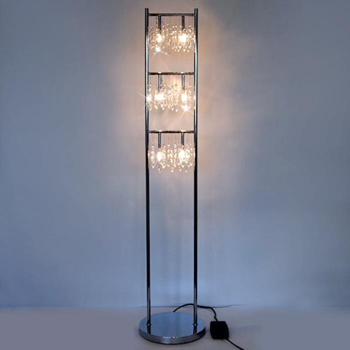 Stehlampe dimmbar echtglaskristallen stehleuchte kristall - Stehlampe mit kristallen ...
