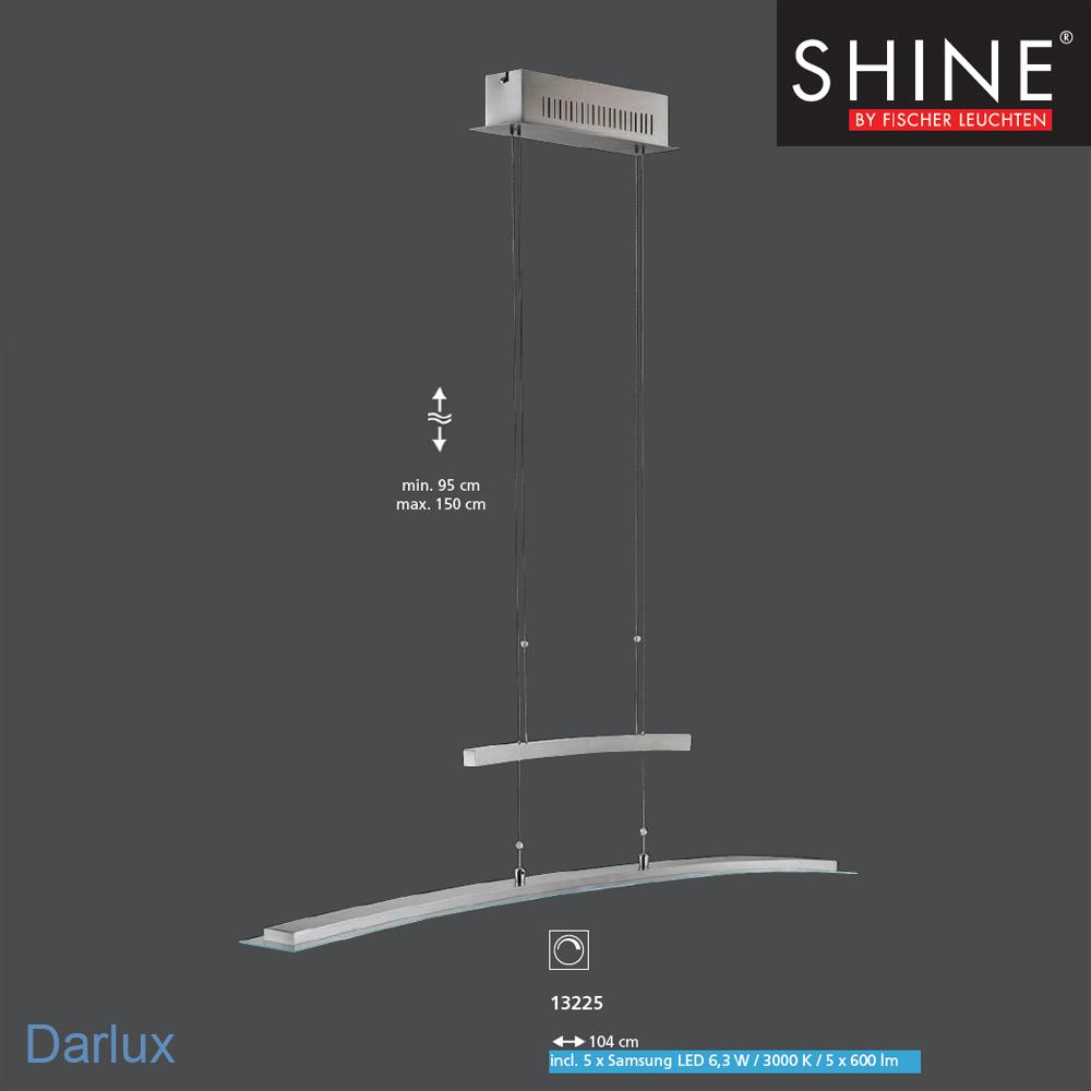 led pendelleuchte h henverstellbar 13225 fischer leuchten shine mz. Black Bedroom Furniture Sets. Home Design Ideas