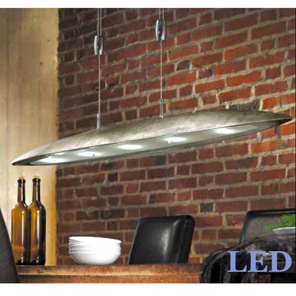 led pendelleuchte h henverstellbar dimmbar 13295 fischer leuchten shine nickel ebay. Black Bedroom Furniture Sets. Home Design Ideas
