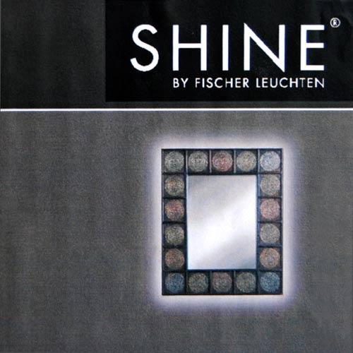 wandspiegel leuchtspiegel spiegel beleuchtet 13524 fischer leuchten shine ebay. Black Bedroom Furniture Sets. Home Design Ideas