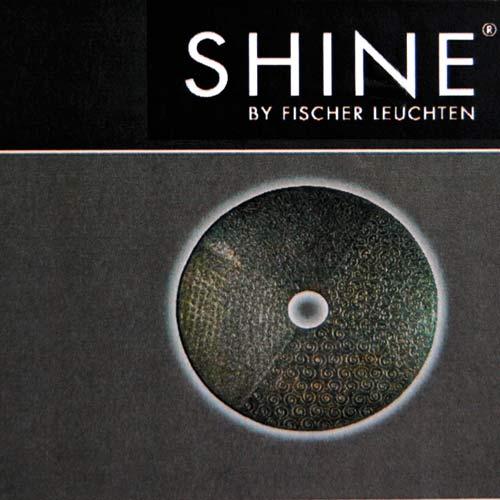 wandleuchte fischer leuchten 13723 shine wandlampe bild design kunstwerk ebay. Black Bedroom Furniture Sets. Home Design Ideas