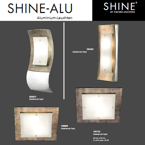 deckenlampe 40x40cm deckenleuchte wandleuchte fischer leuchten 14712 shine ebay. Black Bedroom Furniture Sets. Home Design Ideas