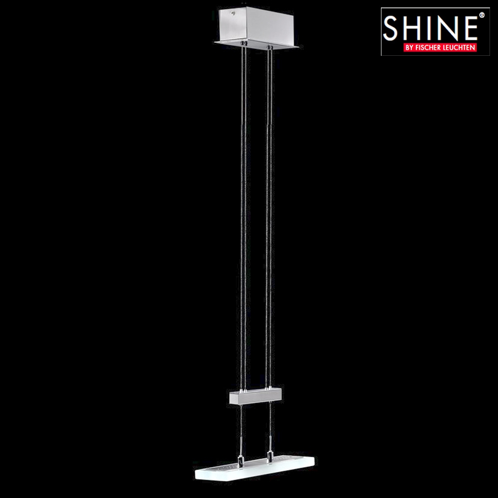 luminaire suspendu r glable en hauteur lampe suspendue verre transparent shine ebay. Black Bedroom Furniture Sets. Home Design Ideas