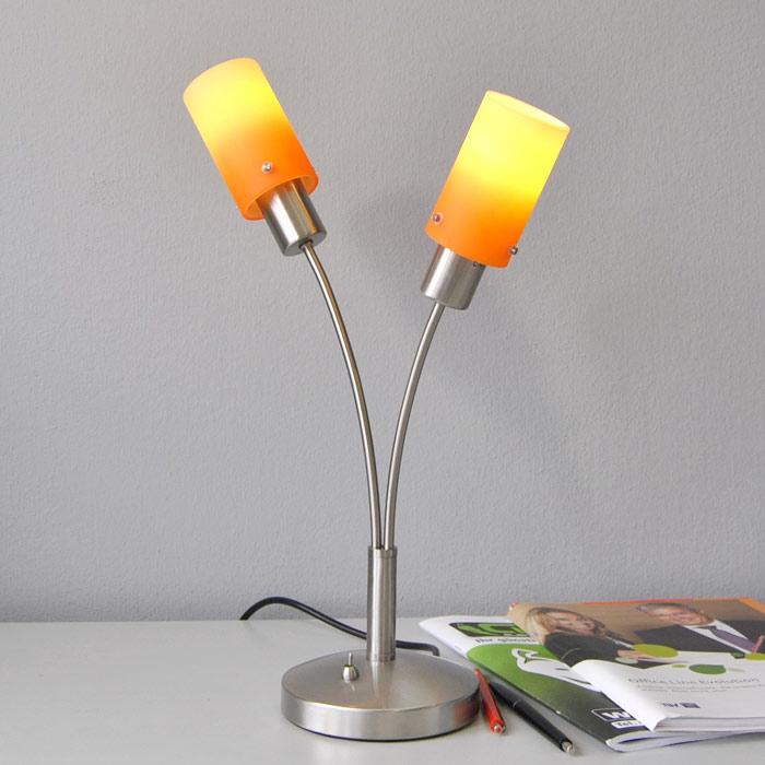 Tischlampe Fischer Leuchten 17572 mit 7W Energiesparlampen