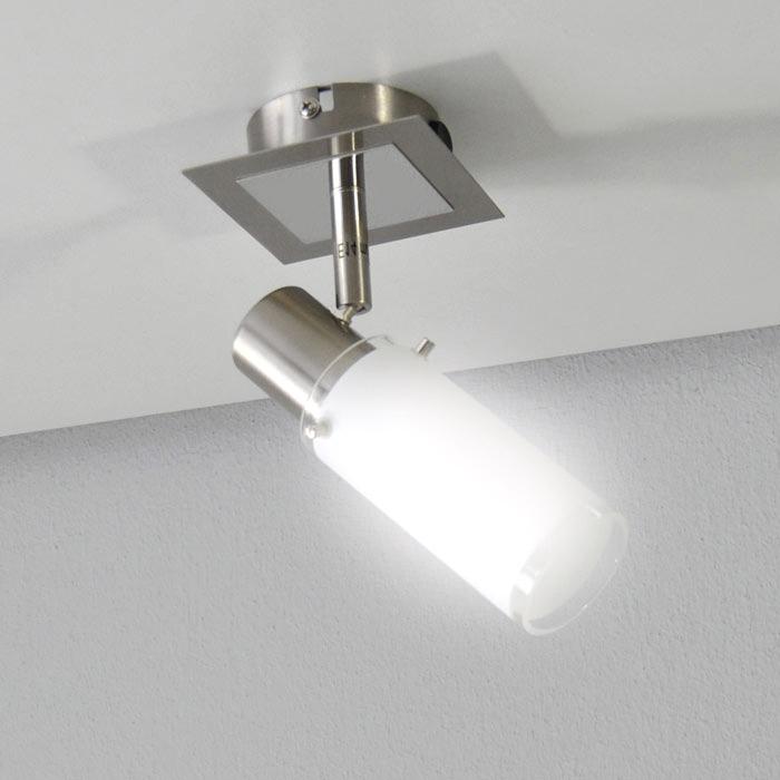 wandlampe mit 11w sparlampe deckenleuchte wandleuchte schalter ebay. Black Bedroom Furniture Sets. Home Design Ideas