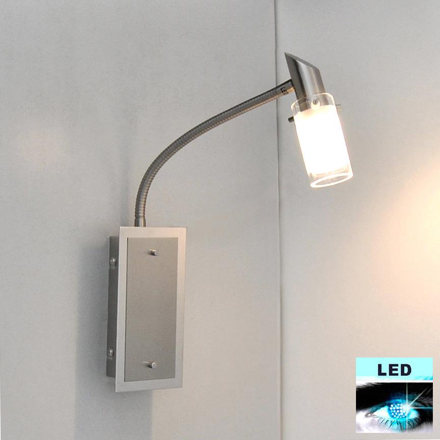 wandleuchte led wandlampe flexarm leseleuchte schalter. Black Bedroom Furniture Sets. Home Design Ideas