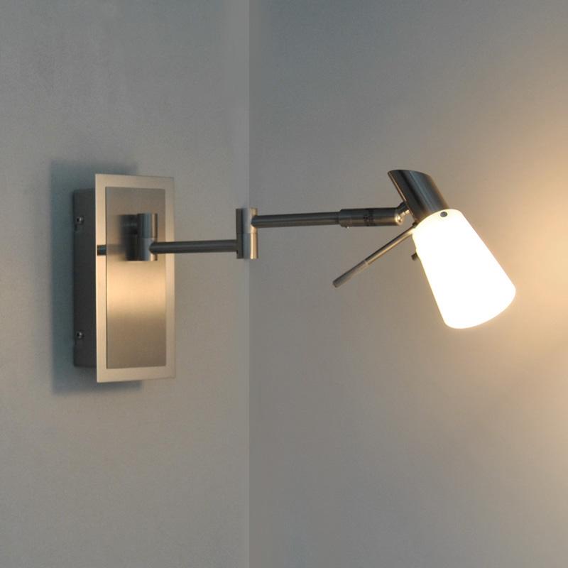 wandleuchte gelenkarm wandlampe leselampe leseleuchte led m glich schalter ebay. Black Bedroom Furniture Sets. Home Design Ideas