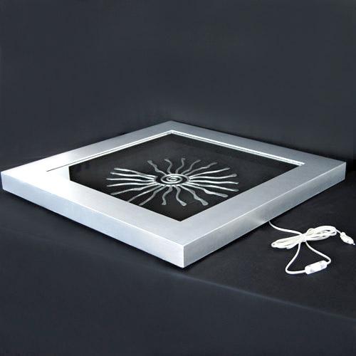 design k nstlerbild led wand bild lichtobjekt luxus wandlampe shine fischer ebay. Black Bedroom Furniture Sets. Home Design Ideas