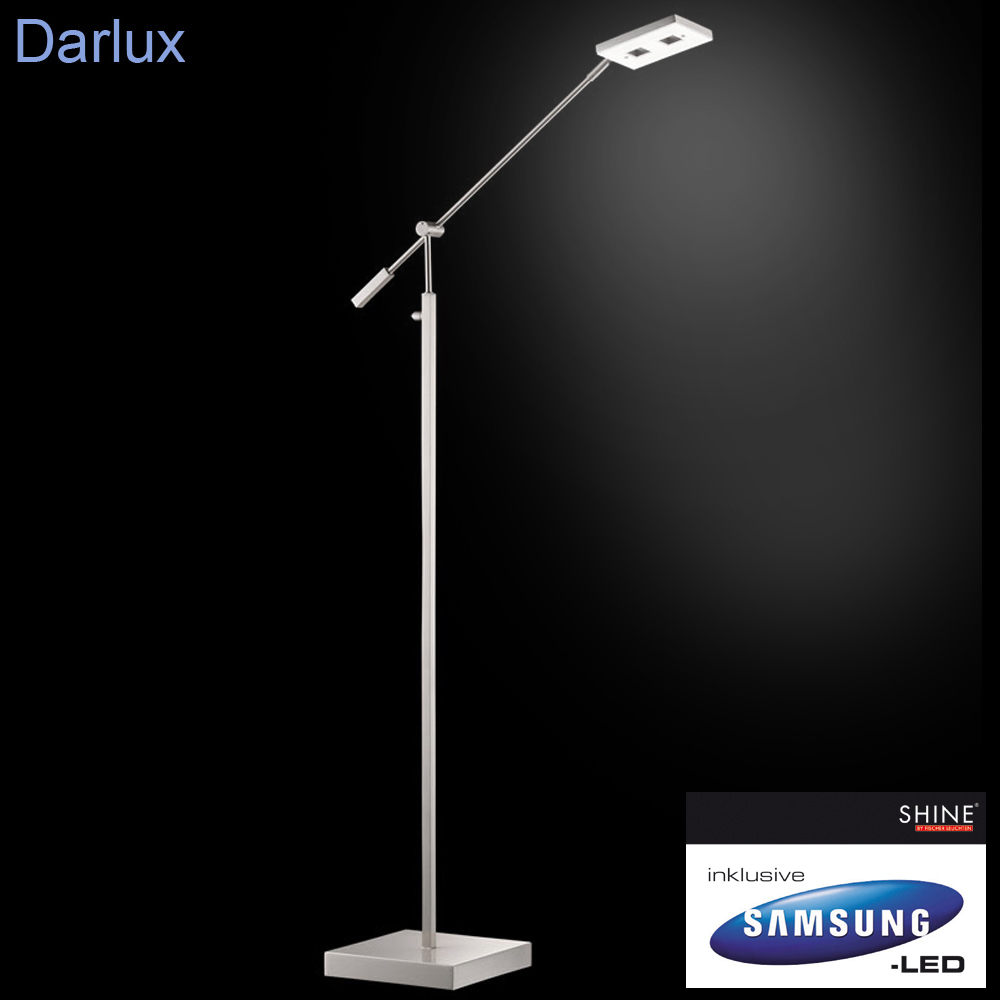 led stehleuchte dimmbar 51151 samsung fischer leuchten shine stehlampe leselampe ebay. Black Bedroom Furniture Sets. Home Design Ideas