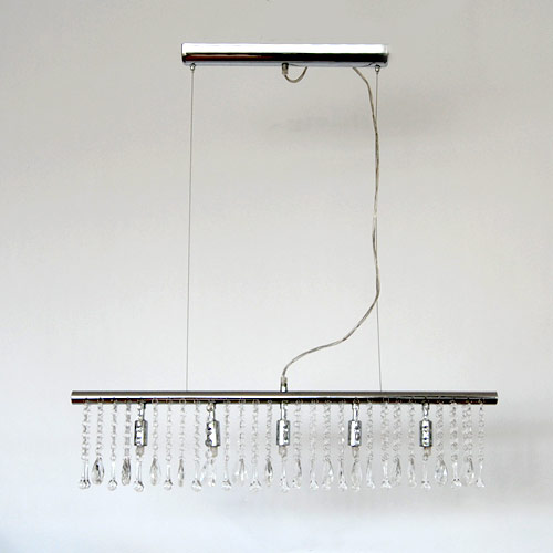 globo 684015 pendelleuchte 5x40w g9 kristall chrom. Black Bedroom Furniture Sets. Home Design Ideas