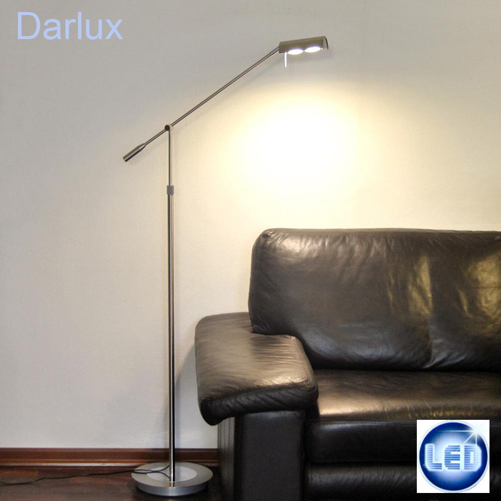 led stehleuchte 2x5w leseleuchte stehlampe leselampe h he einstellbar schalter ebay. Black Bedroom Furniture Sets. Home Design Ideas