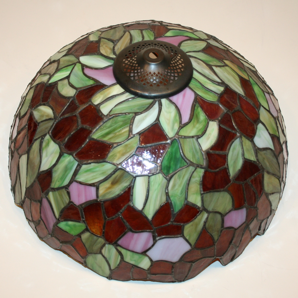 tiffany stil glas lampenschirm 37 5x19cm lampenglas leuchtenglas neu. Black Bedroom Furniture Sets. Home Design Ideas