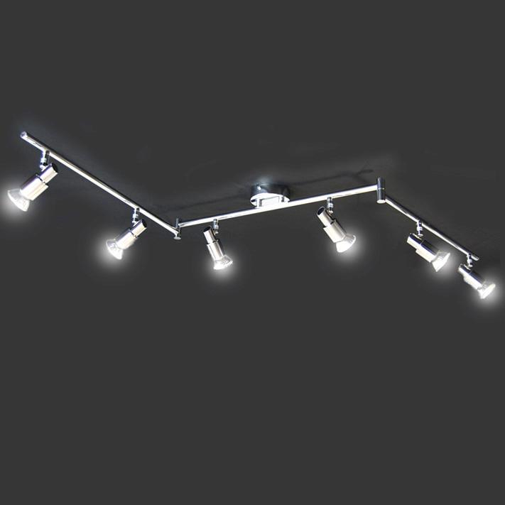 deckenleuchte halogen strahler deckenlampe deckenlampen lichtschiene chrom ebay. Black Bedroom Furniture Sets. Home Design Ideas