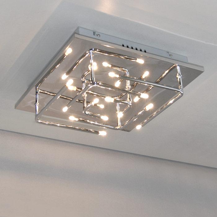 Deckenleuchte-12-flamm-verspiegelte-Chrom-B-35cm-Deckenlampen-Halogen-LED-moegl