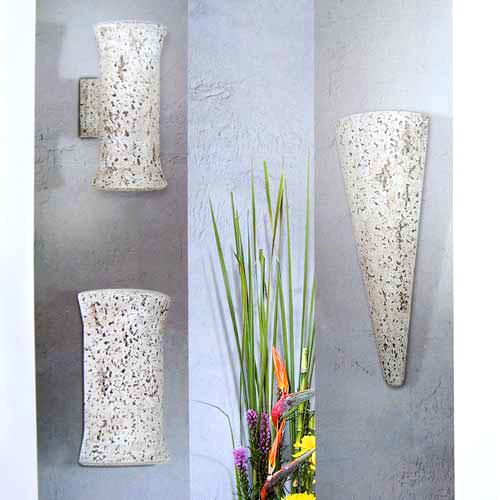 sorpetaler 150580 wandleuchte stein natur fackel 63cm. Black Bedroom Furniture Sets. Home Design Ideas