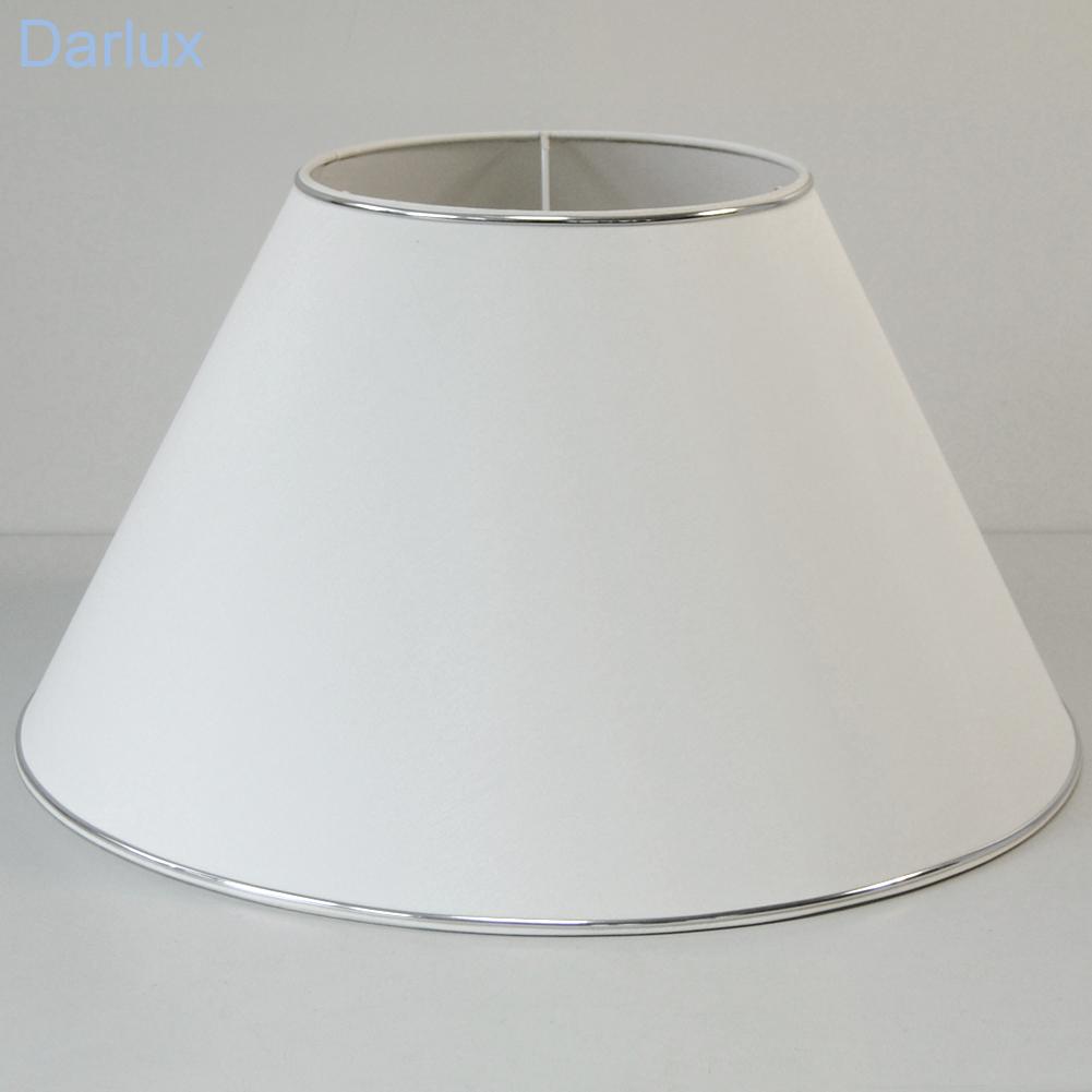 lampenschirm 55 5cm sorpetaler leuchten 270870 rund wei silberrand. Black Bedroom Furniture Sets. Home Design Ideas