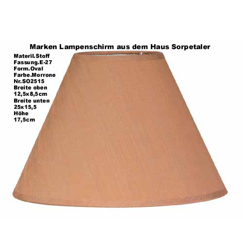 Lampenschirm stoffschirm stehlampe tischlampe braun for Lampenschirm tischlampe