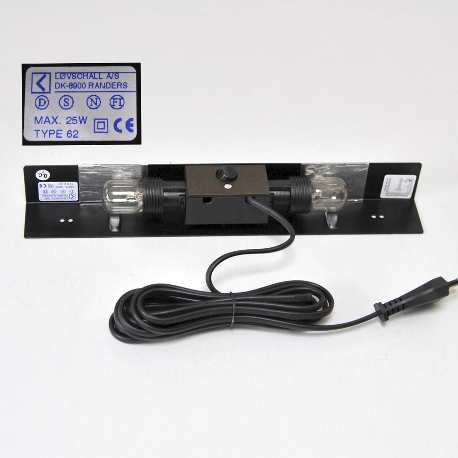 unterbauleuchte m belleuchte 2 x e14 fassung schalter kabel m stecker. Black Bedroom Furniture Sets. Home Design Ideas