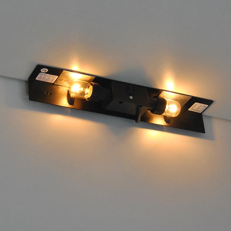 Unterbauleuchte m belleuchte 2 x e14 fassung schalter - Wandlampe mit stecker ...