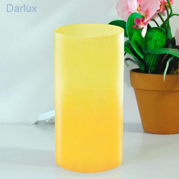 tischleuchte design tischlampe eglo leuchten glas 20cm gelb orange led m gl ebay. Black Bedroom Furniture Sets. Home Design Ideas