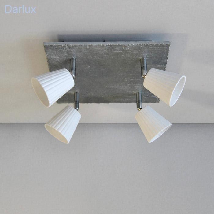 deckenlampe deckenleuchte schiefer optik dimmbar deckenleuchten led geeign neu ebay. Black Bedroom Furniture Sets. Home Design Ideas